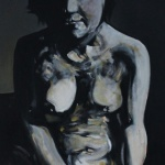 « Le Modèle », huile sur toile, 50x100 cm