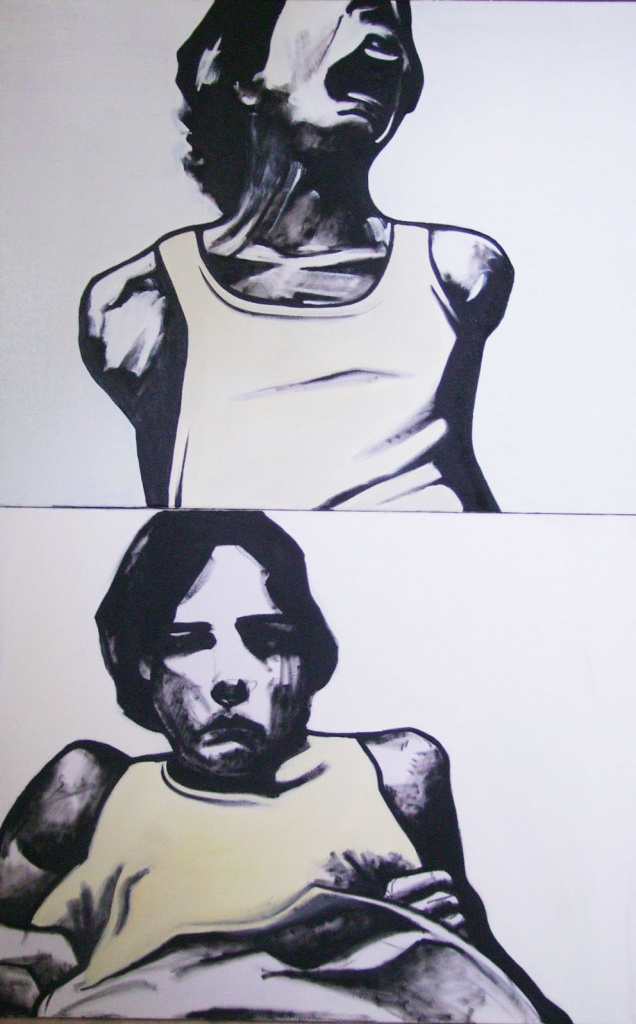 « Cauchemar », huile sur toile, 70x100 cm