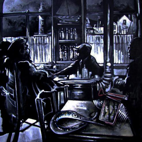 « Du Bar... la Tempête », acrylique sur toile, 120x120 cm