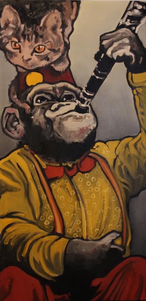 « Équilibre 2 », huile sur toile, 40x80 cm