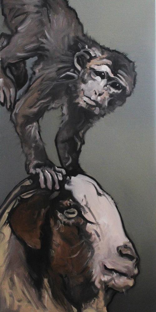« Équilibre », huile sur toile, 40x70 cm (disponible)