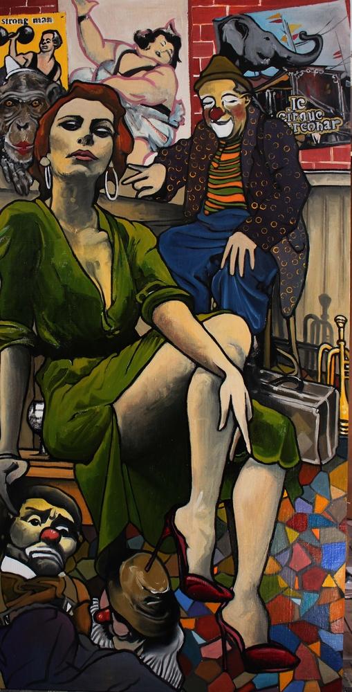 « La Famille Circobar », huile sur toile, 100x200 cm (vendu)