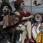 « La Pause », huile sur toile, 80x100 cm (vendu)