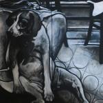 « La Rengaine de la Bouteille », acrylique sur toile, 70x100 cm