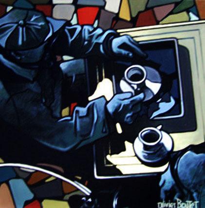 « La Terrasse », acrylique sur toile, 120x120 cm