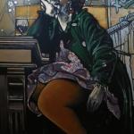 « L'Attente », huile sur toile, 100x120 cm