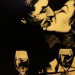 « Le Baiser », huile sur toile, 50x70 cm