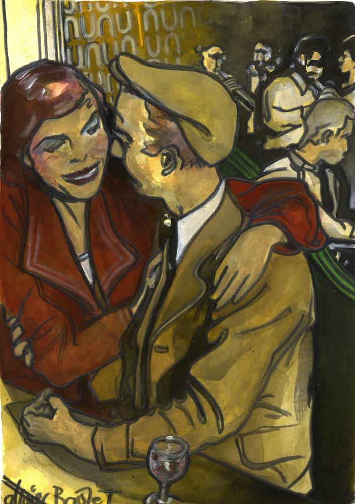 « Le Couple », encres, 30x40 cm