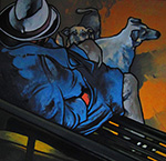 « Le Mendiant », huile sur toile, 90x90 cm