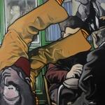 « Le Monde allant vers... », huile sur toile, 50x70 cm (vendu)