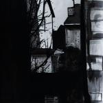 « Le Passage », lavis sur papier, 30x60 cm (disponible)