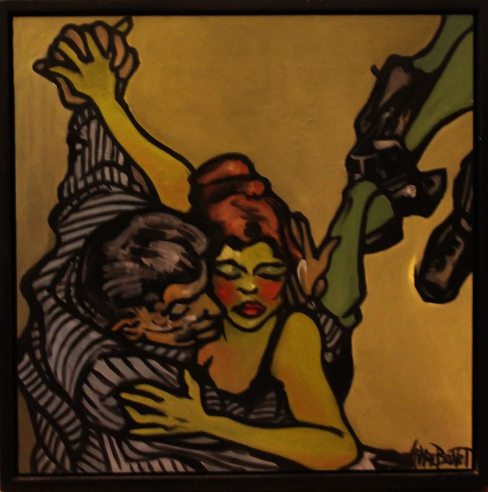 « Le Tango », huile sur bois, 50x50 cm