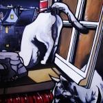 « Les Chats », huile sur toile, 70x90 cm (vendu)