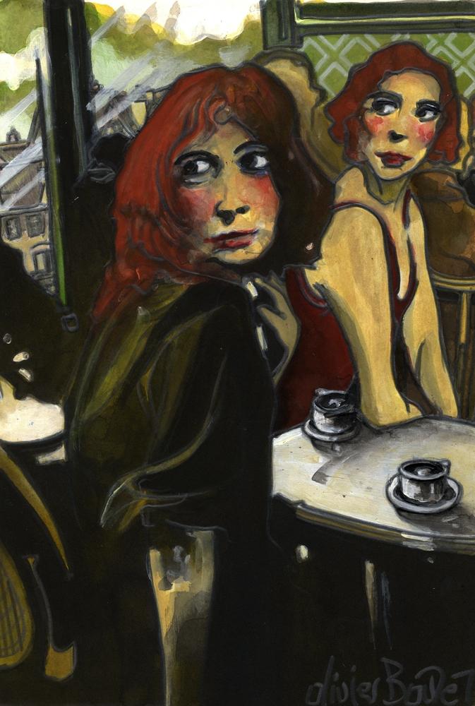 « Les Copines », encres, 30x40 cm
