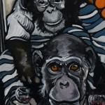 « Les deux Compères », huile sur toile, 40x80 cm (vendu)