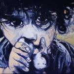 « Lili 3 », huile sur toile, 50x70 cm
