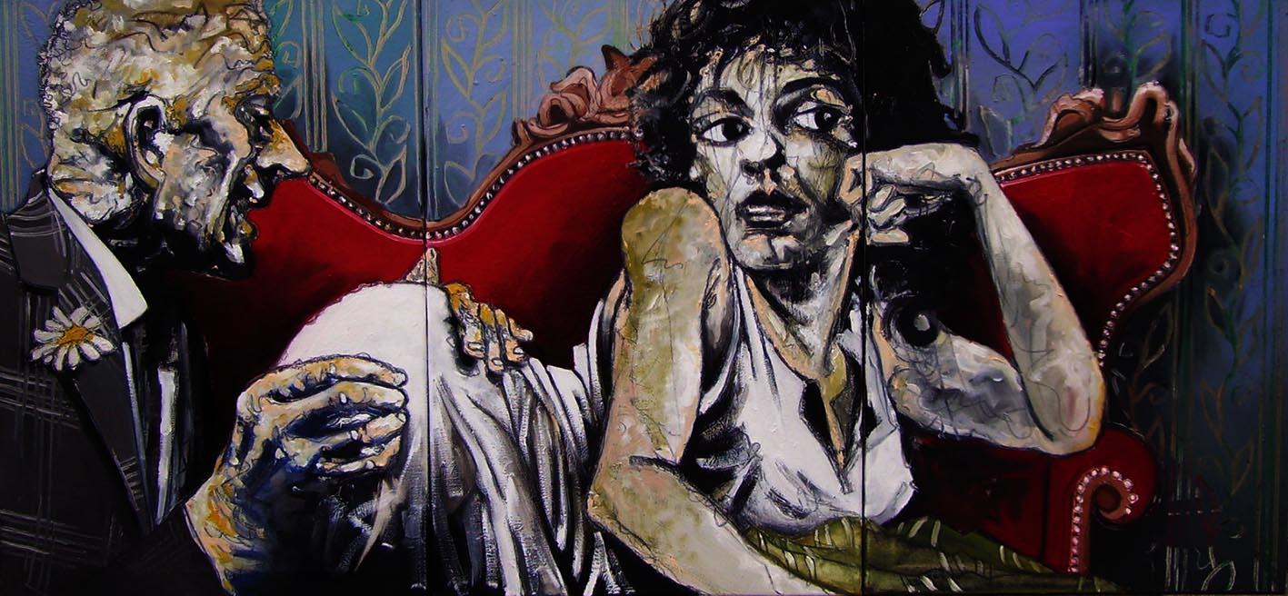 « Lubricité », huile sur toile, 70x150 cm