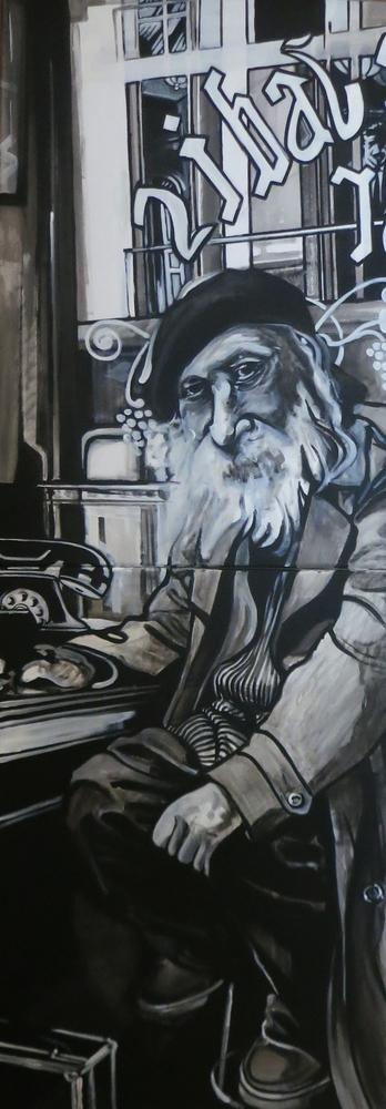 « Monsieur Jadis », acrylique sur bois, 50x140 cm