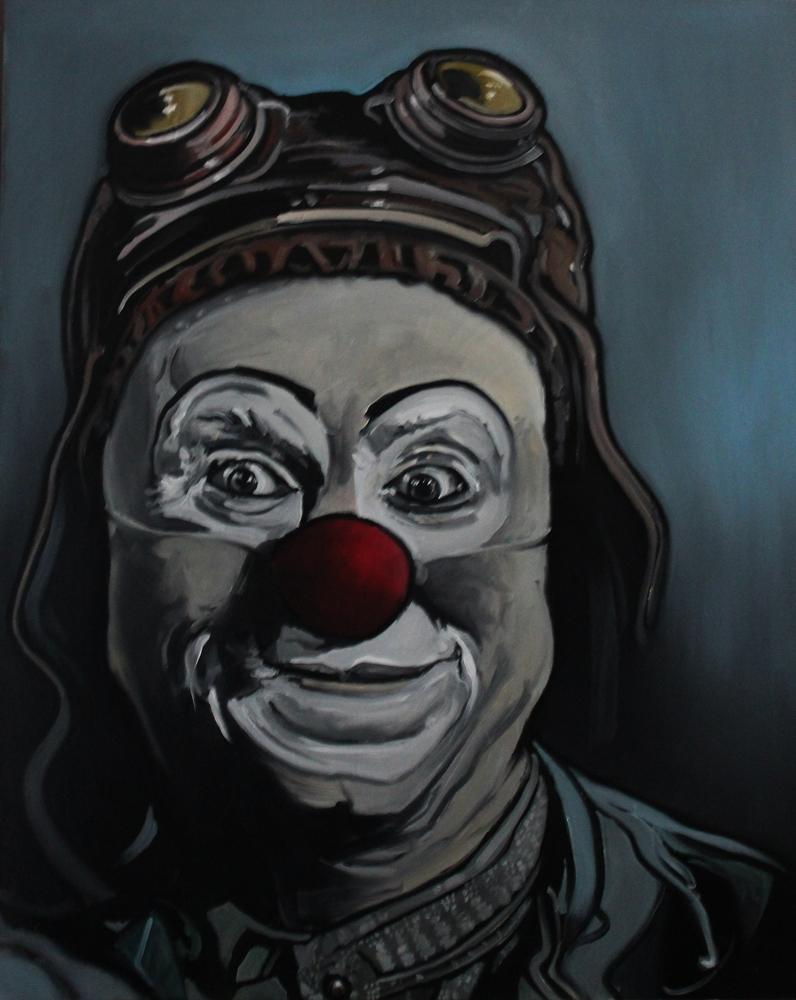 « Môssieur Bling », huile sur toile, 80x100 cm (vendu)