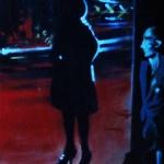 « Noir sur la Ville 1 », acrylique sur toile, 20x50 cm (vendu)