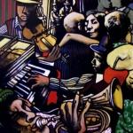 « Une folle Soirée », acrylique sur toile, 120x160 cm