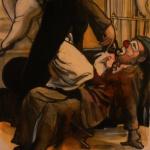 « L'Arracheur de Clowns », encres, 30x40 cm (disponible)