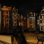 « Saint-Malo... by night », encres, 40x50 cm (vendu)