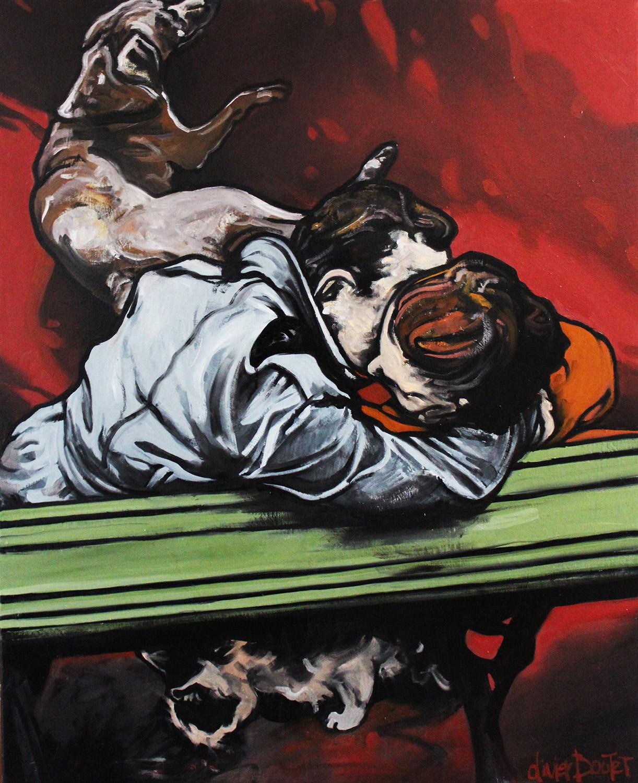 « Rouge Amoureuse », huile sur toile, 80x100 cm (vendu)