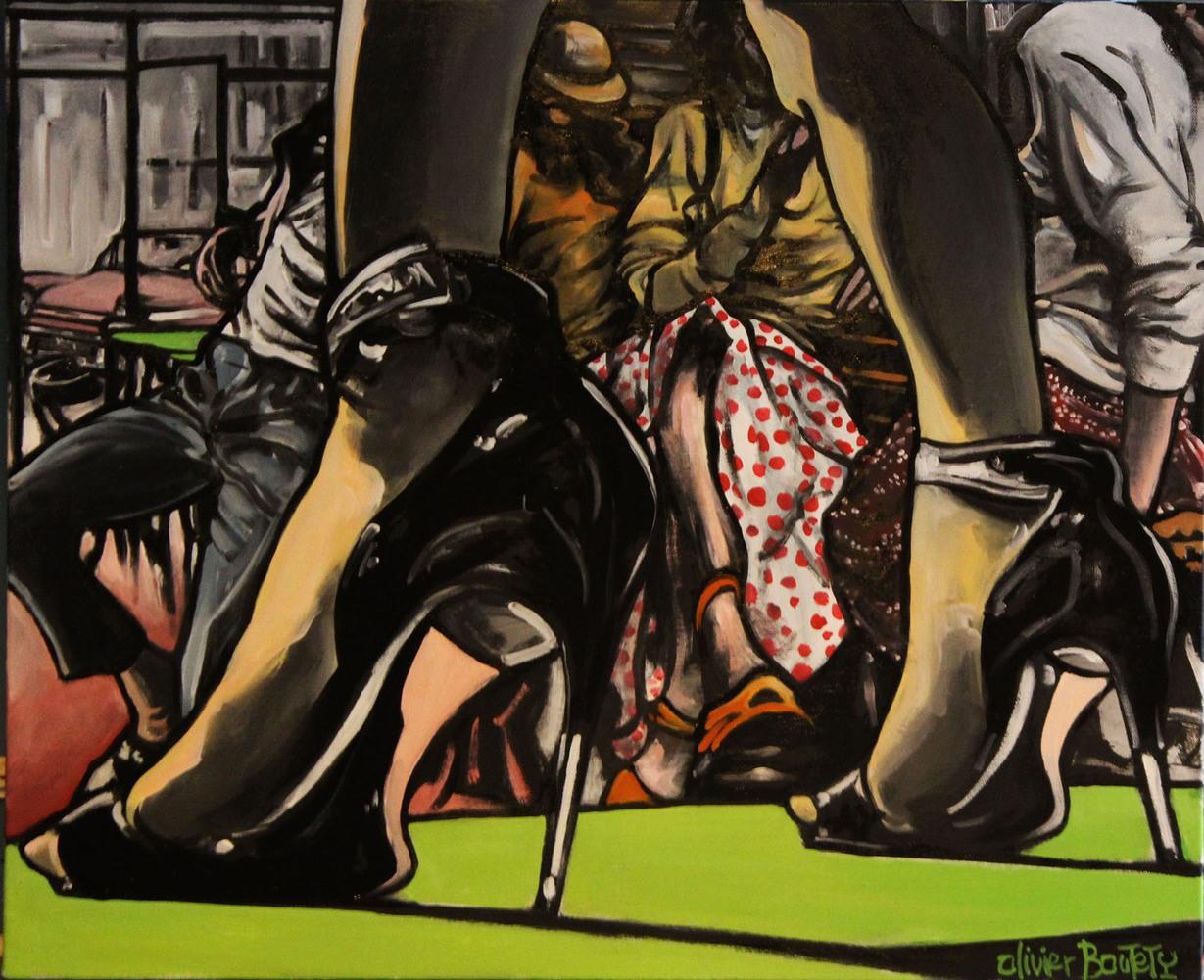 « Comme dans un Film américain », huile sur toile, 60x80 cm