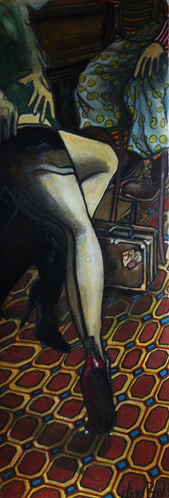 « De Passage », encres, 20x50 cm