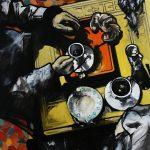 « Fiat Lux », huile sur toile, 80x100 cm (vendu)
