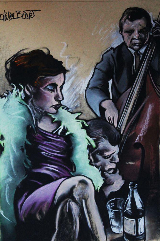« Jazzy », pastel sec, 75x65 cm