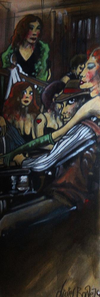 « La Partie », encres, 20x50 cm