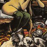 « La Pensée nue », huile sur toile, 50x100 cm