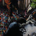 « La Vie est belle », huile sur bois, 50x120 cm