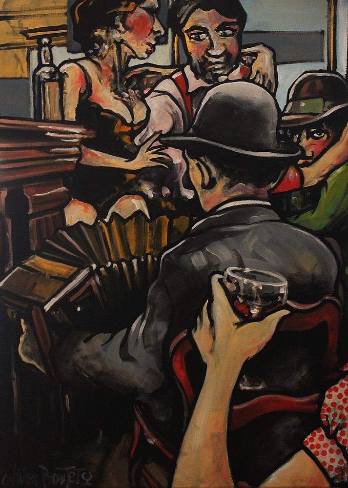 « Le Coupe-Gorge », huile sur toile, 50x70 cm
