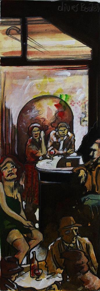 « Le Fond d'Bar », encres, 20x50 cm