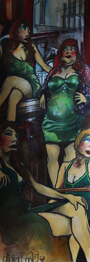 « Le Gang des Rouquines », encres, 20x50 cm