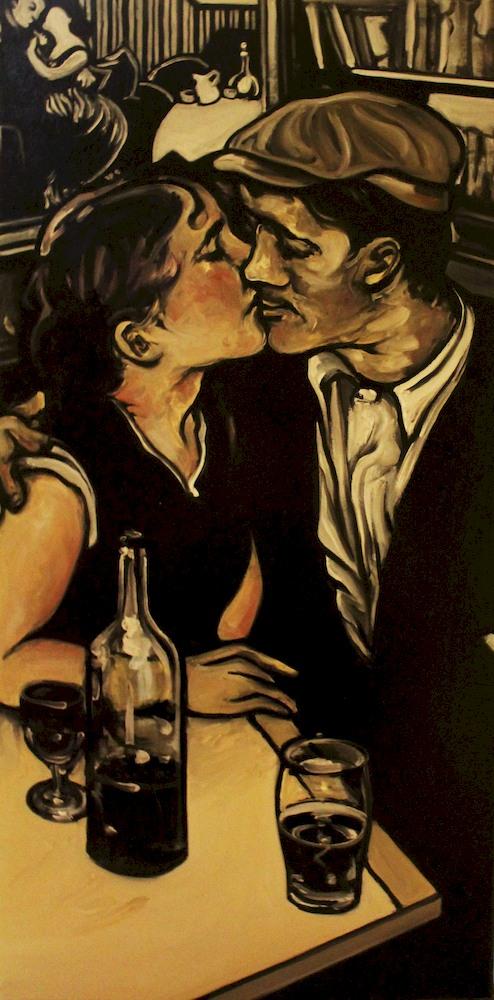 « Le Mensonge de Félix », huile sur toile, 40x70 cm