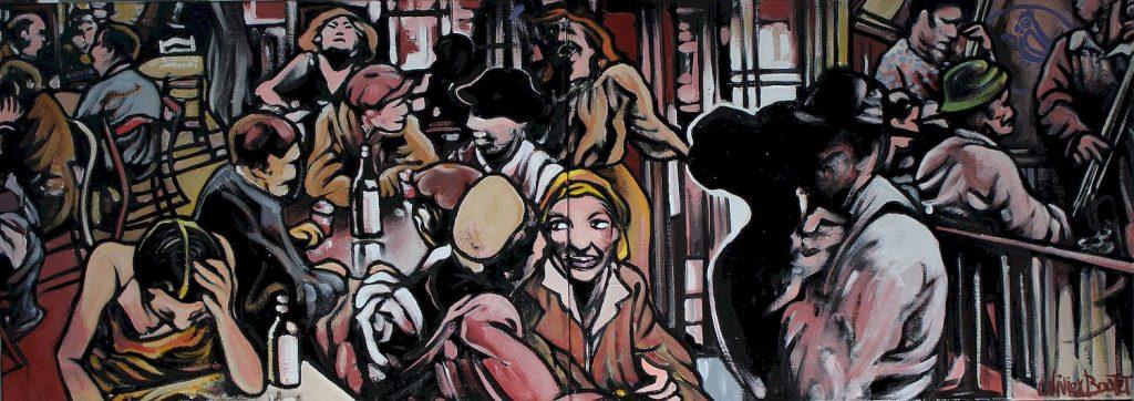 « Le Perroquet mauve », huile sur toile, 50x140 cm