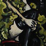 « Le Rencart », huile sur bois, 21x78 cm
