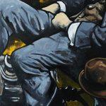 « Le Voyageur », huile sur bois, 50x120 cm (vendu)