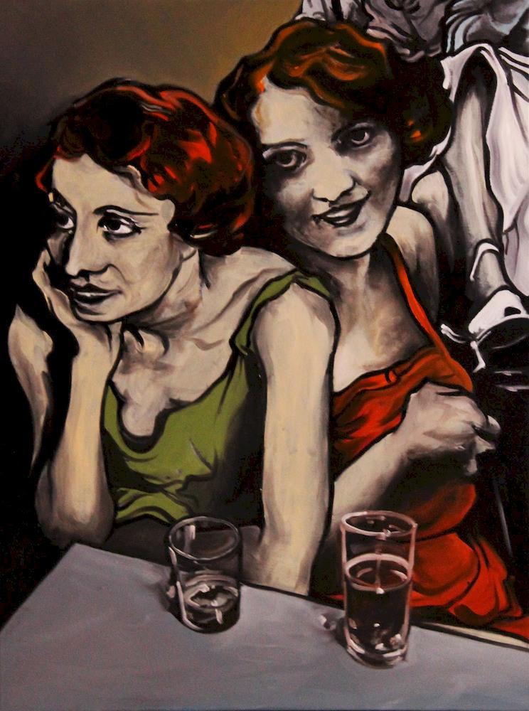 « Les Copines », huile sur toile, 60x80 cm