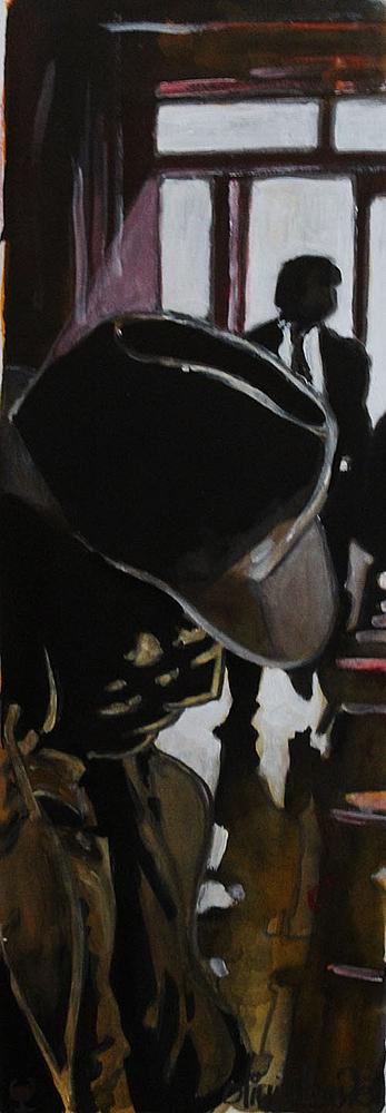 « L'Inconnu », encres, 20x50 cm