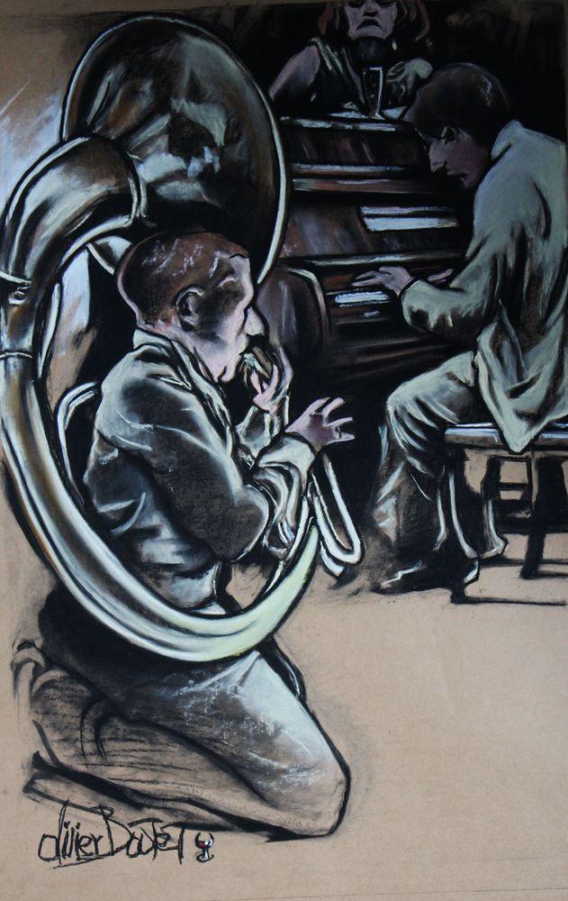« Musique, Maestro ! », pastel sec, 75x65 cm