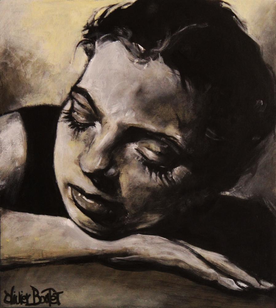 « Pénélope », acrylique sur bois, 28x32 cm