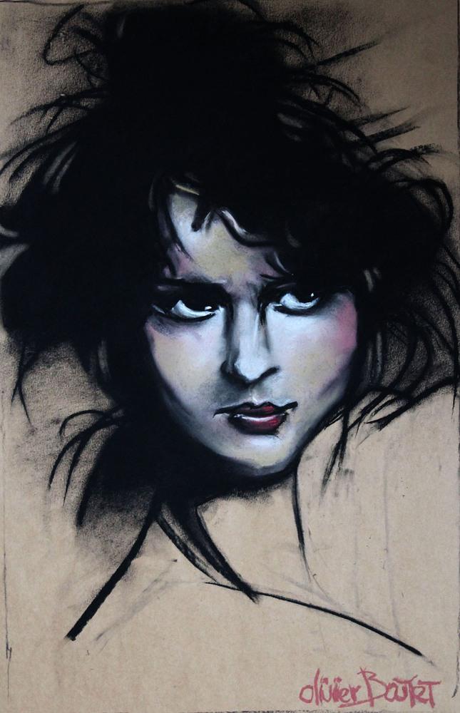 « Portrait », craie contée, 36x54 cm