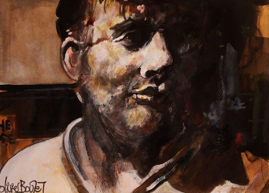 « Portrait », encres sur papier, 30x40 cm