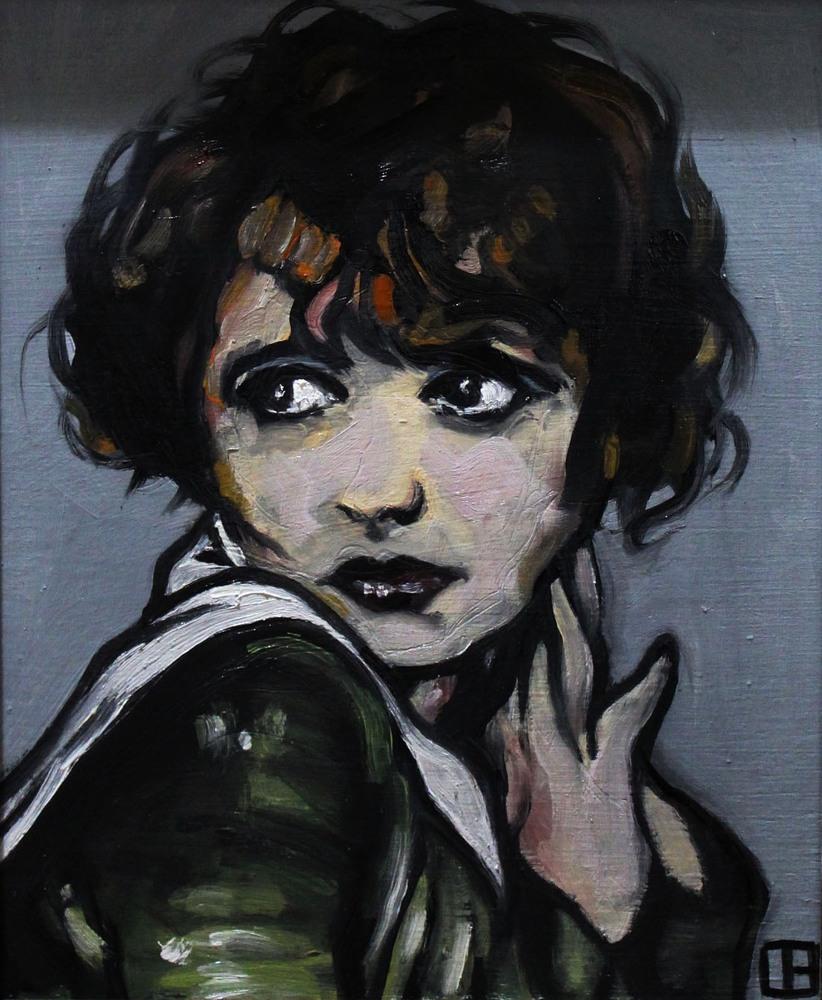 « Portrait », huile sur bois, 24x39 cm