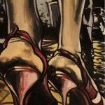 « Ronde de Nuit », huile sur toile, 50x100 cm